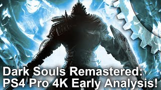 [4K] Dark Souls Remastered: Early PS4 Pro vs Xbox 360 Graphics Comparison + Frame-Rate test!