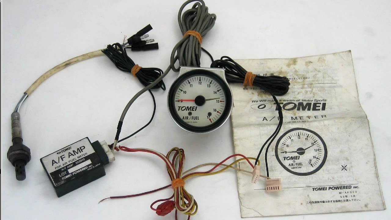 maxresdefault tomei a f air fuel ratio gauge meter 60mm youtube glowshift air fuel ratio gauge wiring diagram at gsmportal.co