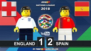 England vs Spain 1-2 • Nations League 2018 x Euro 2020 (08/09) All Goals Highlights Lego Football