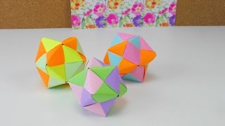 Modular Origami: How to Make a Cube, Octahedron & Icosahedron from ... | 180x320