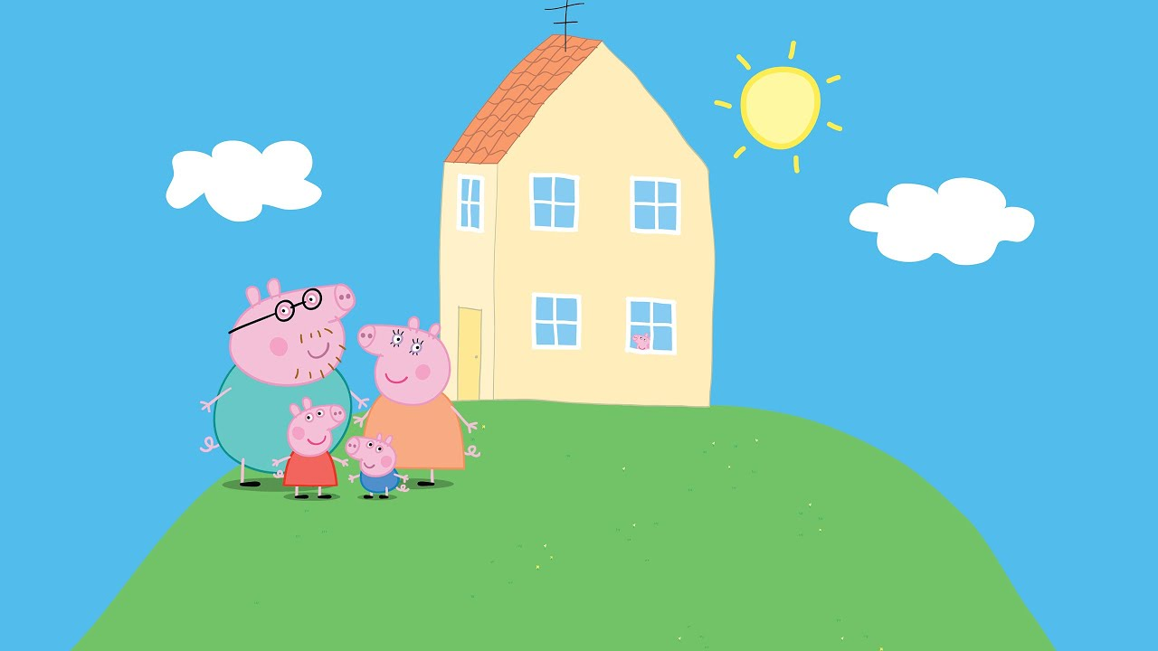 Peppa Pig House Coloring Pages For Kids