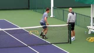 Andy Murray Post Practice Conditioning 2013 BNP Paribas Open