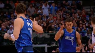 Luka Doncic to Dwight Powell