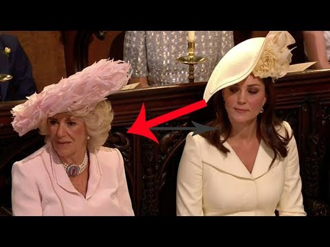 Kate gives Camilla 'sideeye' TWICE during Rev Curry's dramatic royal wedding speech