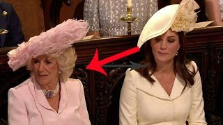 Kate gives Camilla 'side-eye' TWICE during Rev Curry's dramatic royal wedding speech