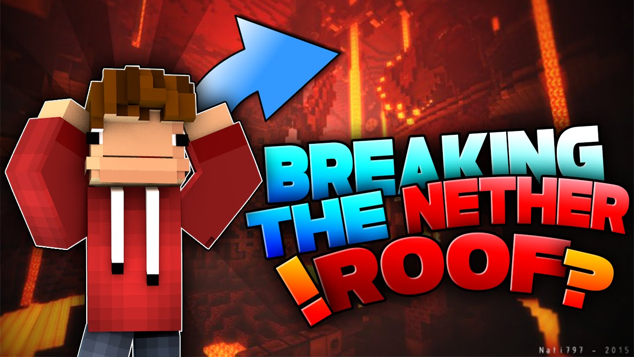 2b2t Hole On The Nether Roof Youtube