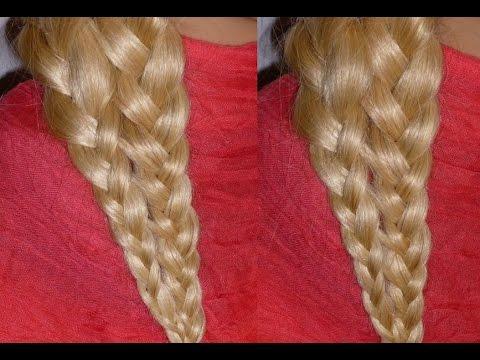 БЫСТРАЯ причёска в школу за 5 минут для средних/длинных волос самой себе. Плетение косичек