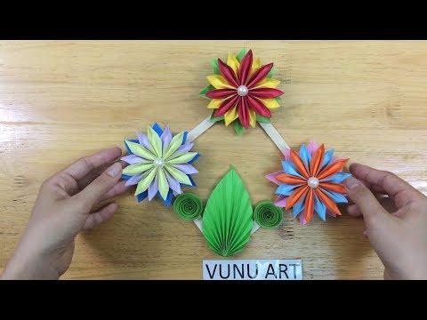 Amazing Paper Flowers   Kagojer Wallmet   Origami flower tutorial   VUNU ART (Ep.29)