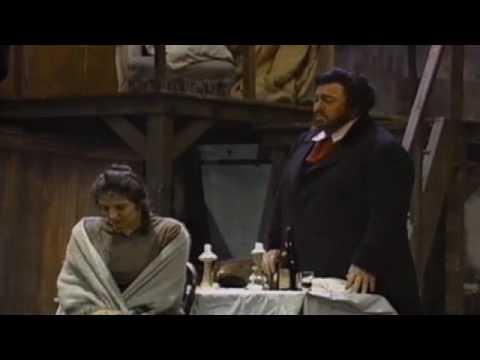"""La Boheme - Pavarotti- """"Che gelida manina""""  Fiamma Izzo d' Amico """"Si, mi chiamano Mimi"""""""
