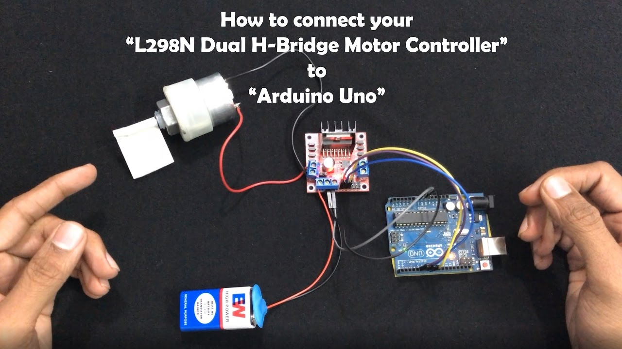how to connect your l298n dual h bridge motor controller to arduino uno  [ 1280 x 720 Pixel ]