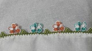 FARKLI iğne oyası yapımı   oya modelleri   crochet needles