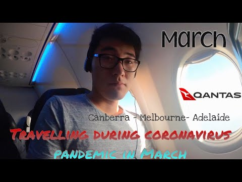 Flying During Coronavirus In March, Changes In Airline Safety Measures. Qantas Canberra To Adelaide.
