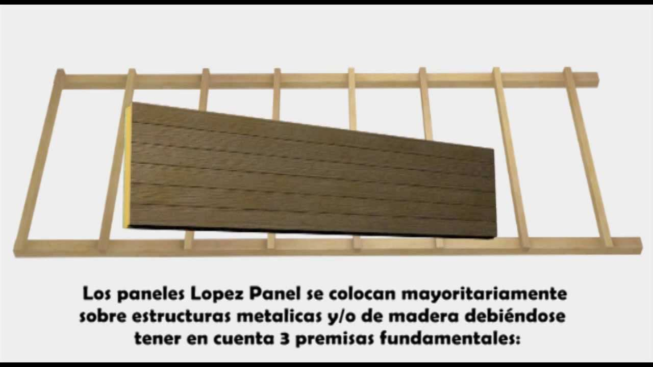Video instalaci n panel sandwich lopez panel lopezpanel for Sandwich para tejados de madera