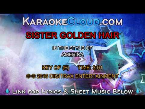 America - Sister Golden Hair (Backing Track)