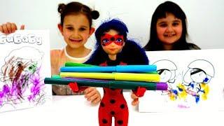Видео для девочек - Челлендж Три Маркера с Леди Баг