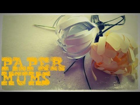 DIY - How to make Paper Mums (Chrysanthemum Flower)