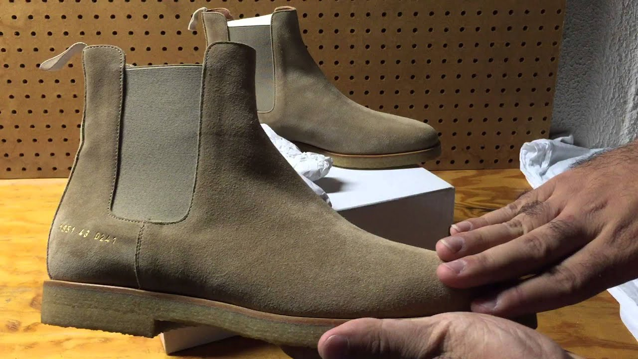 Common Projects Suede Chelsea Boots Khaki Review Unboxing