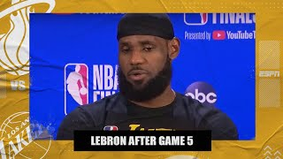 LeBron addresses Danny Green's miss and Markieff Morris' turnover late in Game 5 | 2020 NBA Finals