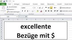 Excel 2010: Dollarzeichen $ in Excel um absolute und relative Bezüge einzustellen