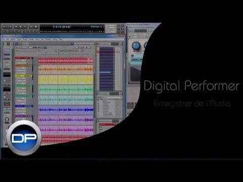 Enregistrer de l'audio dans Digital Performer 8 et 9 (français)