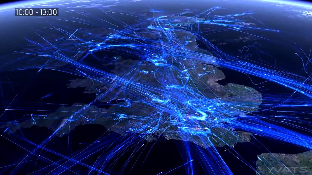 Схема рейсов самолета