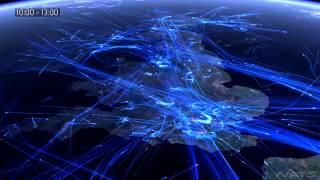 Сколько в небе самолетов? Карта полетов, google flight map, авиатрафик  DC Shtatnov