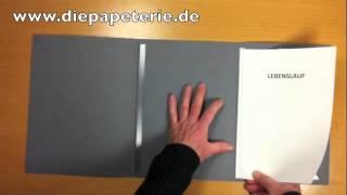 Bewerbungsmappe Einsortieren Reihenfolge 3 Teilig Mit Deckblatt