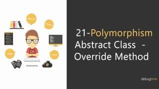 21 - C# Tutorial in Hindi and Urdu - Polymorphism - Abstract Class - Override Method