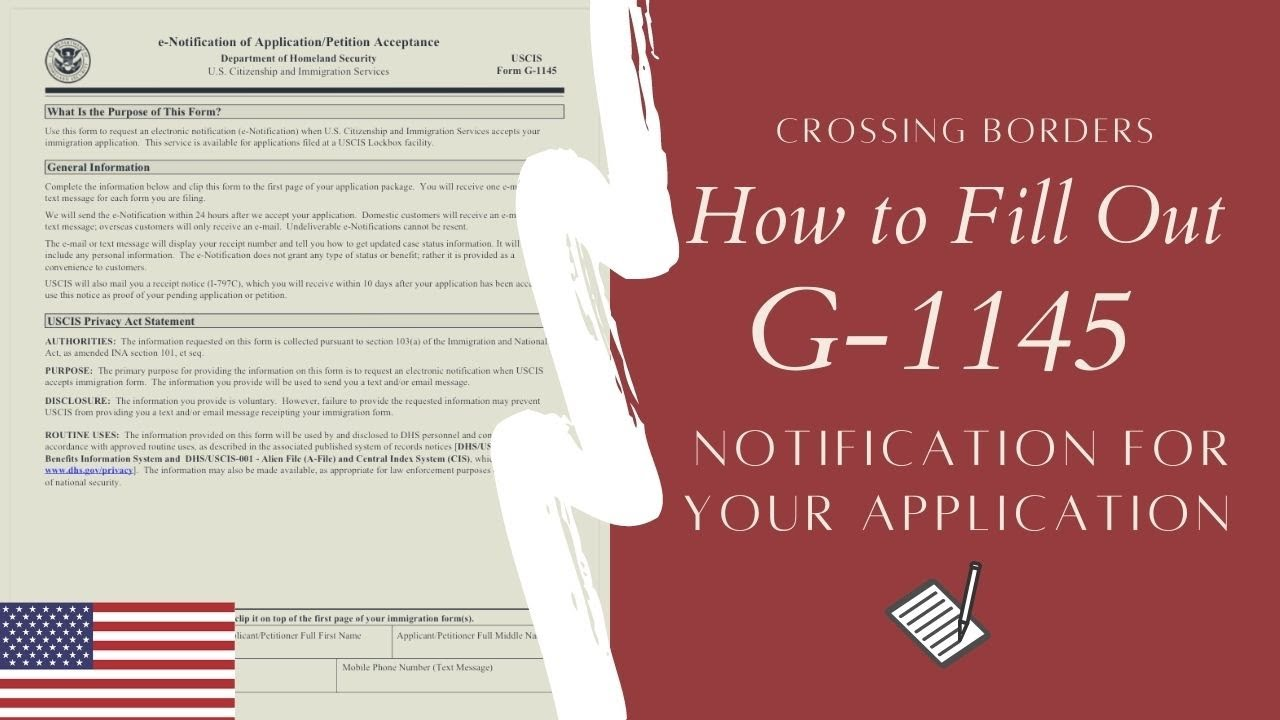 How to Fill Out Form G-1145 for K1 Fiance Visa, Green Card ...