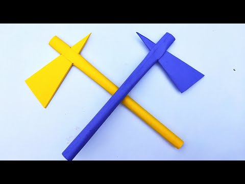 How to Make a Paper Battle Axe || Easy Paper Axe || DIY