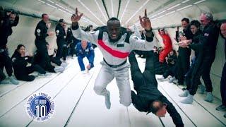 Usain Bolt Takes To The Skies In Zero Gravity | Studio 10
