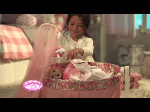 Baby Doll Basket Baby Annabell 2-in1 Sleeping Bag And Carrier - Grace Little Mummy with Sleepy Baby Dolls Also Feature Baby Annabell Lullaby Bed And