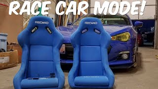 Racing Seats Install in the BRZ!!