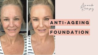 Anti-ageing foundation formulated for mature skin and how to apply it.