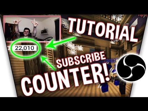 [Tutorial] Youtube Abonnenten im Stream/OBS Anzeigen! - Live Youtube-Subscribe Counter in OBS!