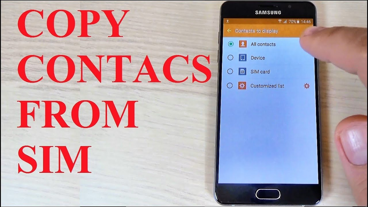 Samsung Galaxy A3 A5 A7 2016 How To Copy Contacts From Sim To Phone Memory