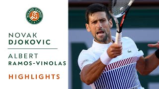 Novak Djokovic v Albert Ramos-Vinolas Highlights - Men's Round 4 2017 I Roland-Garros