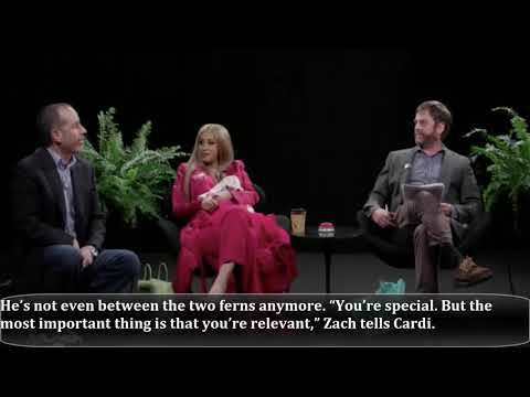 Cardi B Disses Jerry Seinfeld On 'Between Two Ferns'