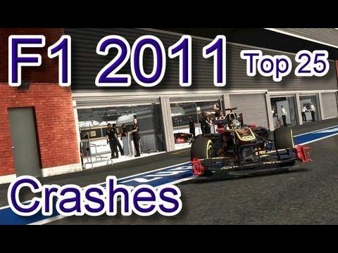 F1 2011 Top 25 Crashes