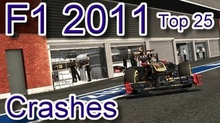 F1 2011 Top 25 Crashes