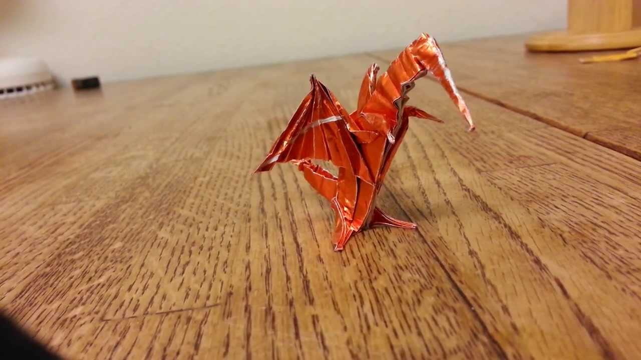 Origami Dragon, Designed By Jeremy Shafer - Not A Tutorial ... - photo#46
