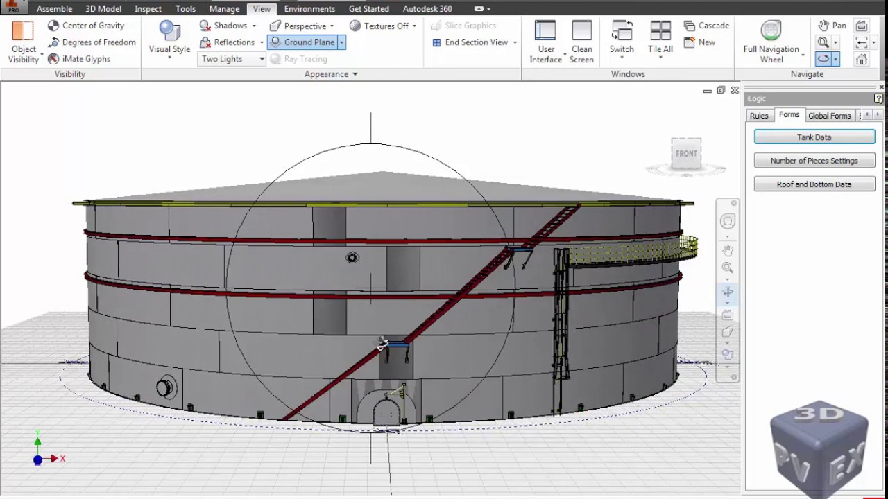 3d Modeling For A Tank According To Api 650 Api 620 Youtube