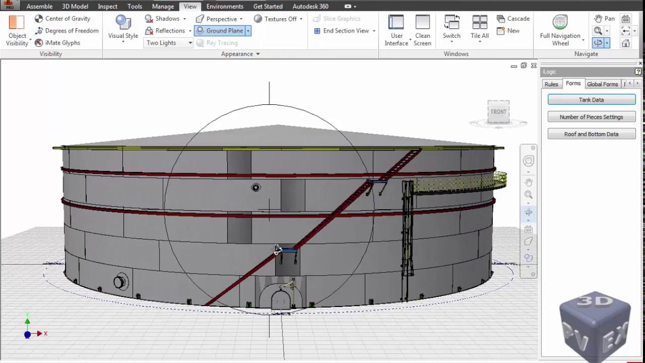 3D modeling for a Tank According to API 650 & API 620