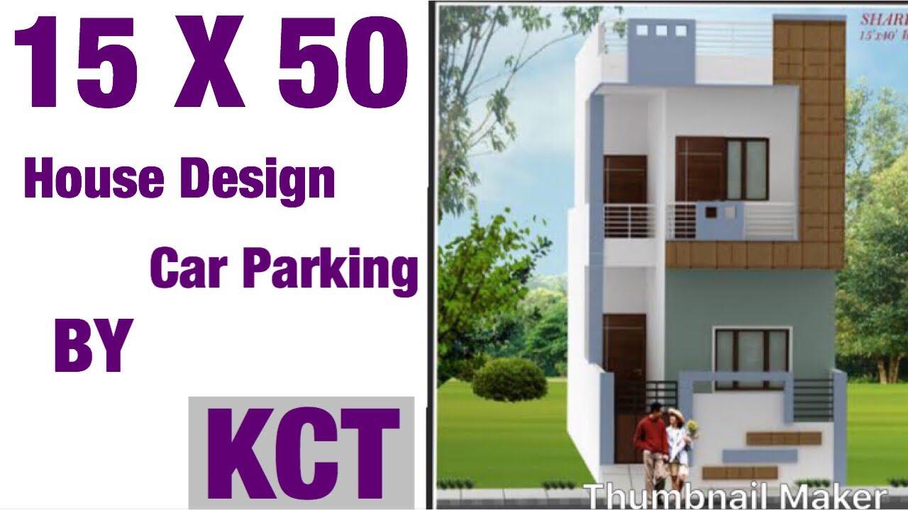 15 X 50 Modern House Design 1bhk With Car Parking Fully Ventilated 80 Gaj