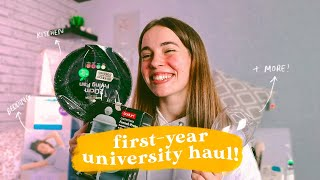 FIRST YEAR UNIVERSITY HAUL!🏠🍳
