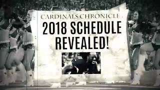 2018 Season Schedule Announced