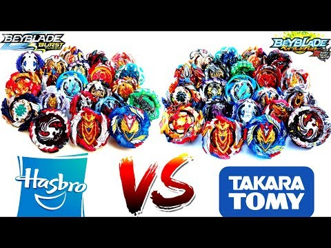 Brands BATTLE: HASBRO Vs TAKARA TOMY-All Turbo VS Cho-Z Beys-BEYBLADE BURST TURBO Vs SUPER Zベイブレード神