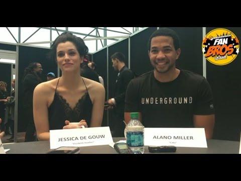 WGN America UNDERGROUND's Jessica De Gouw & Alano Miller  Season 2