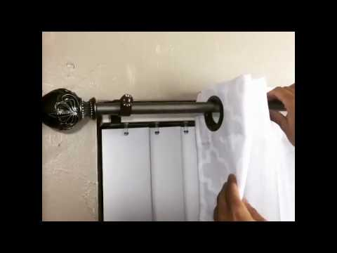 Permalink to Inside Mount Curtain Rod Home Depot