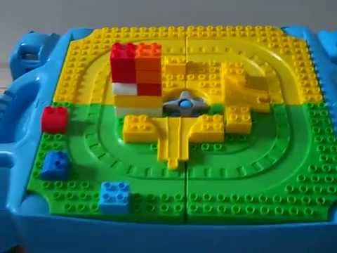 Mega Bloks Play Table & Building Blocks compatible with duplo - YouTube